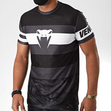 Venum - Tee Shirt Bandit Dry Tech 03936 Gris Anthracite Noir Blanc