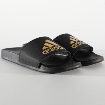 Adidas Performance - Claquettes Adilette Comfort EG1850 Noir Doré