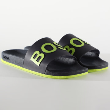 BOSS by Hugo Boss - Claquettes Bay Slip 50432591 Bleu Marine