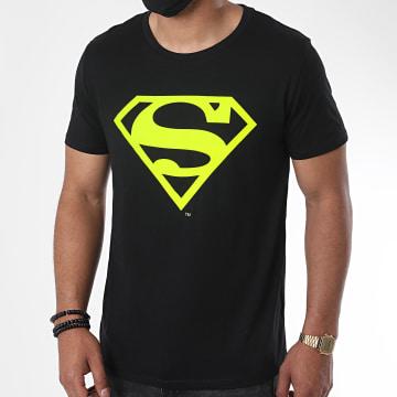 DC Comics - Tee Shirt Neon Logo Noir Jaune Fluo