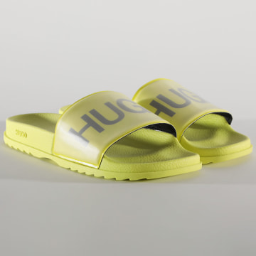 HUGO by Hugo Boss - Claquettes Match 50435242 Jaune Fluo