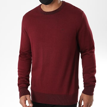 Calvin Klein - Pull Cotton Silk 4920 Bordeaux