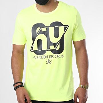 L'Allemand - Tee Shirt 69 Jaune Fluo