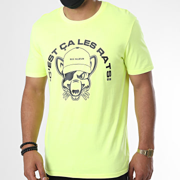 L'Allemand - Tee Shirt Rats Jaune Fluo