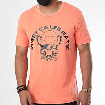 L'Allemand - Tee Shirt Rats Orange Fluo