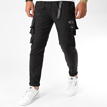 Project X - Pantalon Cargo 2040056 Noir