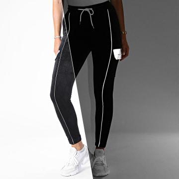 Project X - Pantalon Jogging Femme Velours F204085 Noir
