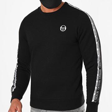 Sergio Tacchini - Sweat Crewneck A Bandes Butch 38845 Noir