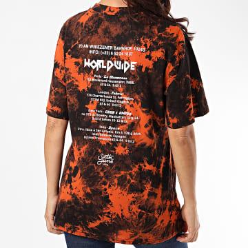Sixth June - Tee Shirt Femme W4203 Noir Orange