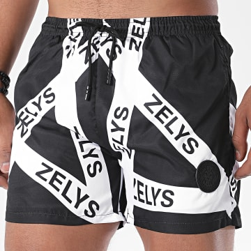 Zelys Paris - Short De Bain Icon Noir Blanc