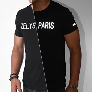 Zelys Paris - Tee Shirt Réfléchissant Kevin Noir