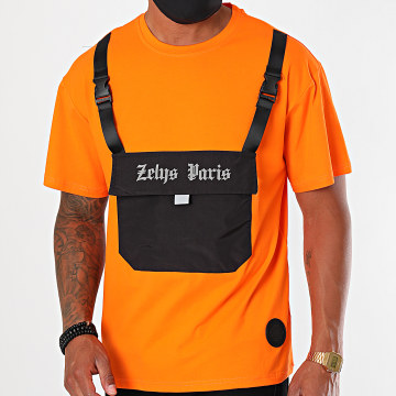 Zelys Paris - Tee Shirt Poche Snoop Orange Réfléchissant