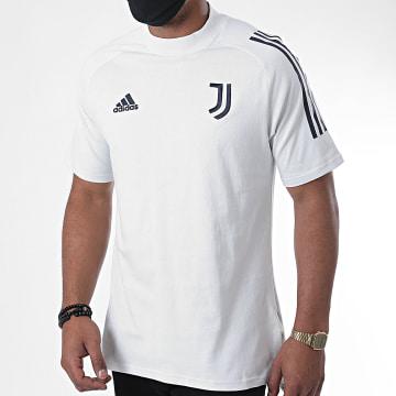adidas - Tee Shirt A Bandes Juventus FR4264 Gris Clair