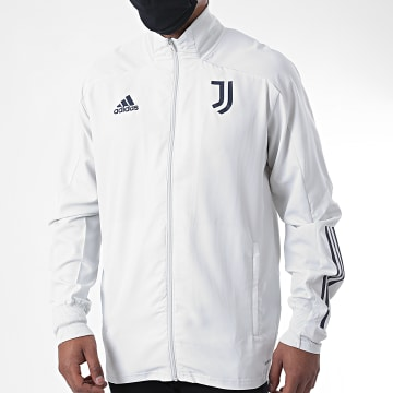 adidas - Veste Zippée Juventus Presentation FR4285 Gris Clair