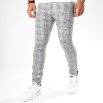 Classic Series - Pantalon A Carreaux 3312 Gris
