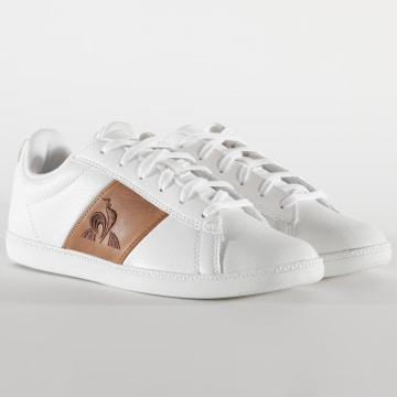 Le Coq Sportif - Baskets Femme CourtClassic 2020249 Optical White Brown
