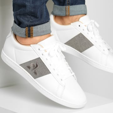 Le Coq Sportif - Baskets Courtclassic Optical White Grey Denim
