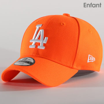 New Era - Casquette Enfant 9Forty League Essential Neon 12381025 Los Angeles Dodgers Orange Fluo