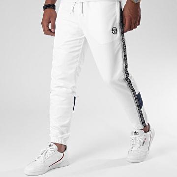 Sergio Tacchini - Pantalon Jogging A Bandes Brett 38848 Blanc