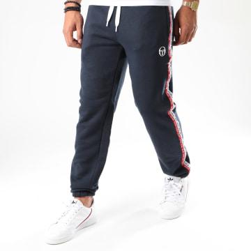 Sergio Tacchini - Pantalon Jogging Tricolore A Bandes Bernie 38843 Bleu Marine