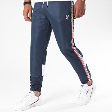 Sergio Tacchini - Pantalon Jogging Tricolore A Bandes Brett 38848 Bleu Marine