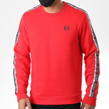 Sergio Tacchini - Sweat Crewneck A Bandes Butch 38845 Rouge