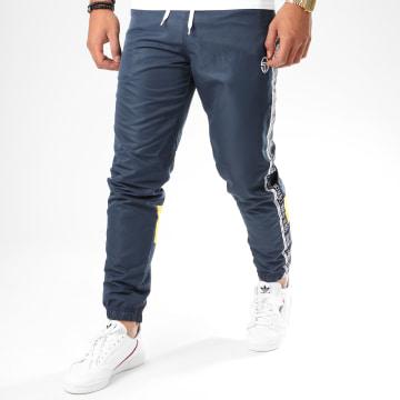 Sergio Tacchini - Pantalon Jogging A Bandes Brett 38848 Bleu Marine Jaune