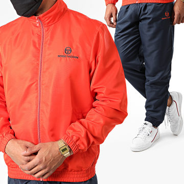 Sergio Tacchini - Ensemble De Survêtement Carson 38744 Orange Bleu Marine