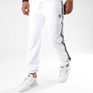 Sergio Tacchini - Pantalon Jogging A Bandes Bernie 38843 Blanc