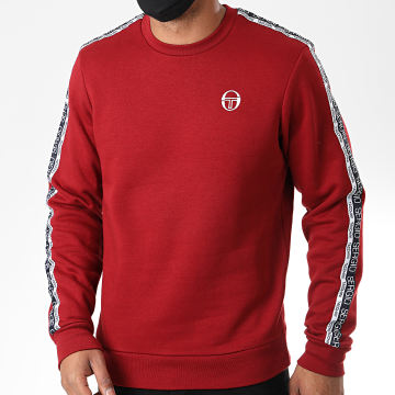 Sergio Tacchini - Sweat Crewneck A Bandes Butch 38845 Bordeaux