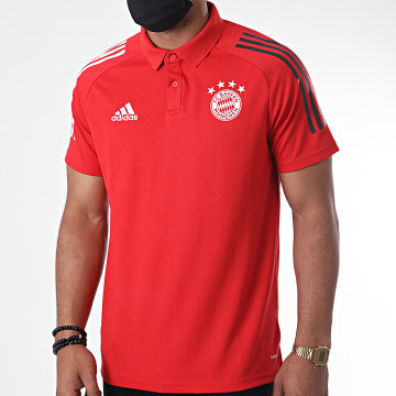 Adidas Performance - Polo Manches Courtes A Bandes FC Bayern FR5342 Rouge