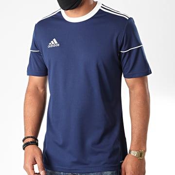 Adidas Performance - Tee Shirt A Bandes Squadra 17 BJ9171 Bleu Marine