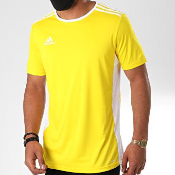 Adidas Performance - Tee Shirt A Bandes Entrada 18 CD8390 Jaune