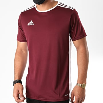 Adidas Performance - Tee Shirt A Bandes Entrada 18 CD8430 Bordeaux