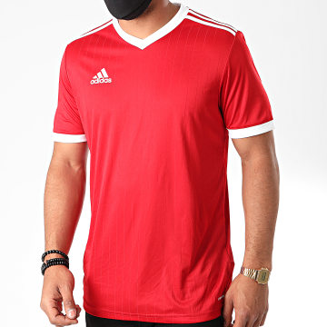 Adidas Performance - Tee Shirt Col V A Bandes Tabela 18 CD8935 Rouge