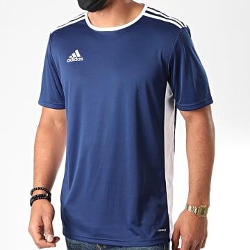 Adidas Performance - Tee Shirt A Bandes Entrada 18 CF1036 Bleu Marine