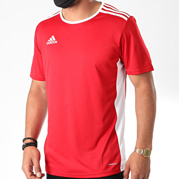 Adidas Performance - Tee Shirt A Bandes Entrada 18 CF1038 Rouge