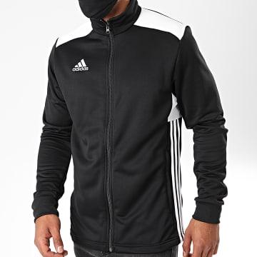 Adidas Performance - Veste Zippée Regi 18 CZ8624 Noir Blanc