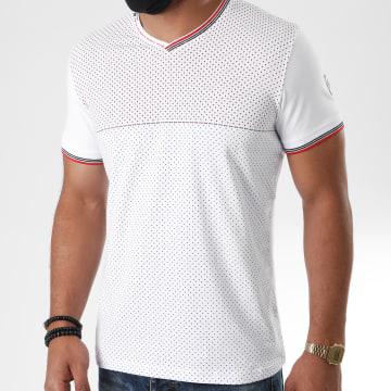 Classic Series - Tee Shirt Col V 2881 Blanc