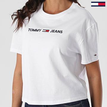 Tommy Jeans - Tee Shirt Femme Modern Linear Logo 8615 Blanc