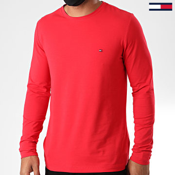 Tommy Hilfiger - Tee Shirt Manches Longues Stretch Fit Slim 0804 Rouge
