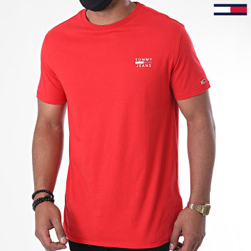 Tommy Jeans - Tee Shirt Chest Logo 7472 Rouge