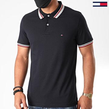 Tommy Hilfiger - Polo Manches Courtes RWB Jacquard Collar 4158 Bleu Marine