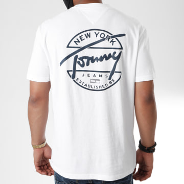 Tommy Jeans - Tee Shirt Round Back Logo 8350 Blanc