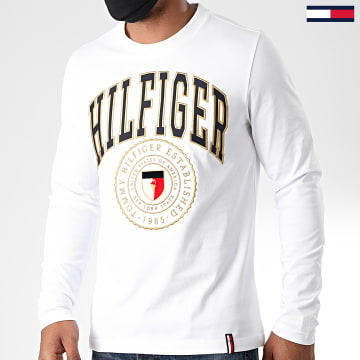 Tommy Hilfiger - Tee Shirt Manches Longues Varisty 4324 Blanc