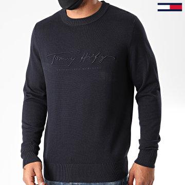 Tommy Hilfiger - Pull Tonal Autograph 4421 Bleu Marine