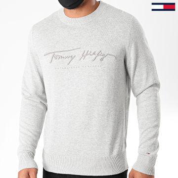 Tommy Hilfiger - Pull Tonal Autograph 4421 Gris Chiné