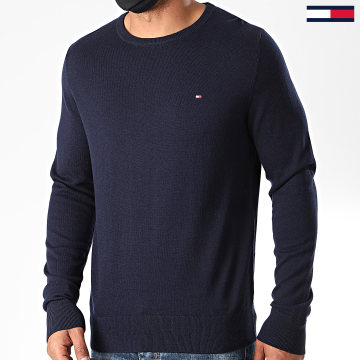 Tommy Hilfiger - Pull Luxury Wool Cotton 4598 Bleu Marine