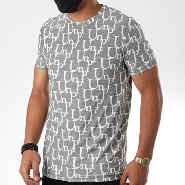 Uniplay - Tee Shirt UY505 Gris Chiné Blanc