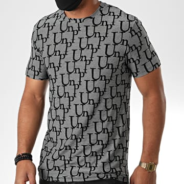 Uniplay - Tee Shirt UY505 Gris Chiné Noir